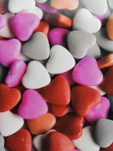 gekleurde hartjes